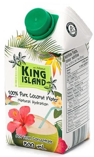 Вода кокосовая KING ISLAND, 500 мл