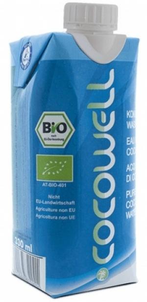 Кокосовая вода Cocowell BIO, 330мл