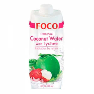 Кокосовая вода FOCO соком личи, 500мл