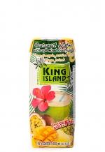 Вода кокосовая с фруктовым соком ананаса, маракуйи, манго KING ISLAND, 250 мл