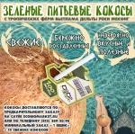 .Зеленые питьевые кокосы, 12шт